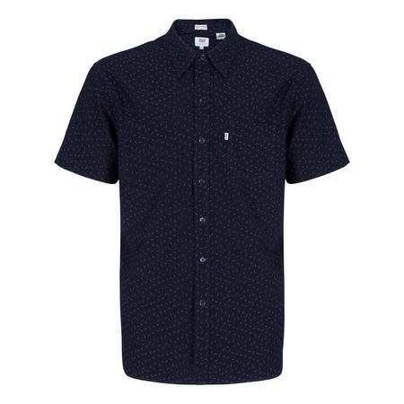 Short Sleeve Printed Shirt Navy