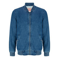 Lyon Denim Bomber Jacket Blue