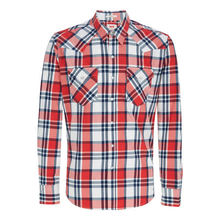 Barstow Western Check Shirt Red