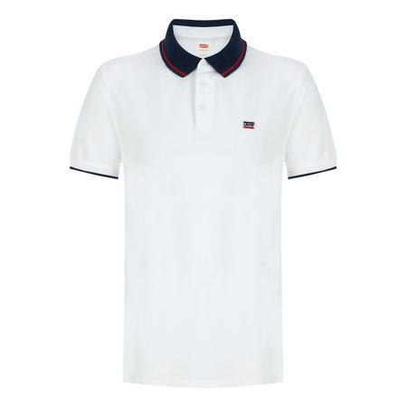 Retro Logo Polo Shirt White
