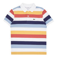 Boys Short Sleeve Striped Polo Shirt Multicolour
