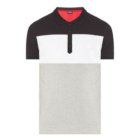 Three-Tone Polo Shirt Grey