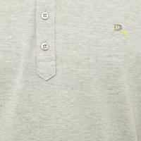 Randy Stripe-Tipped Polo Shirt Grey