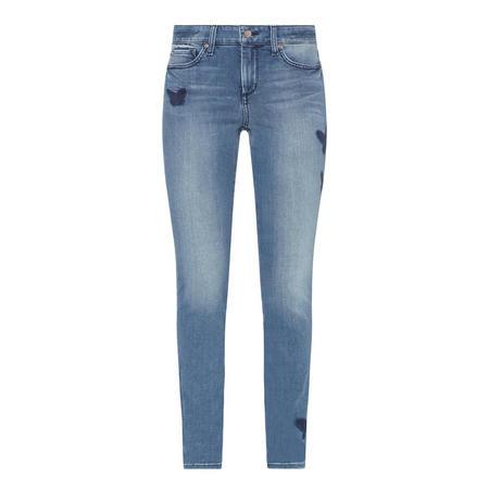 Skinny Stretch Denim Leggings Blue