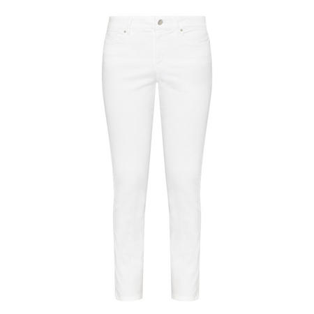 Alina Ankle-Length Jeans White