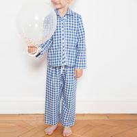 Girls Check Pyjamas Blue