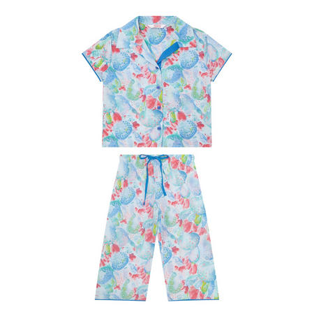 Girls Cactus Print Pyjama Set Multicolour