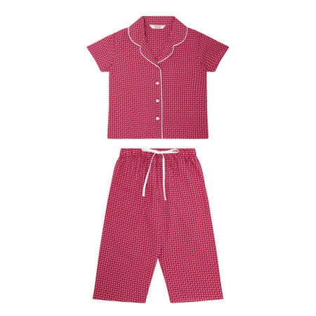 Girls Tile Print Pyjama Set Multicolour