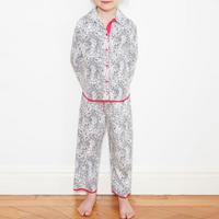 Girls Animal Print Pyjamas White