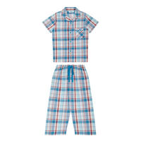 Boys Check Pyjama Set Multicolour