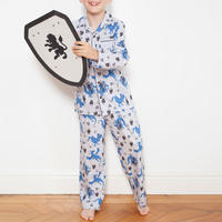 Boys Dragon Print Pyjamas Grey
