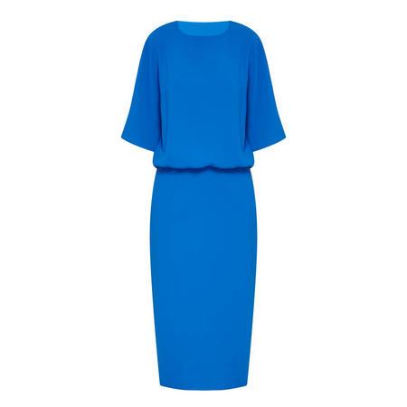 Melissa Cape Sleeve Dress Blue
