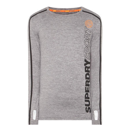 Long Sleeve Sports Technical Top Grey