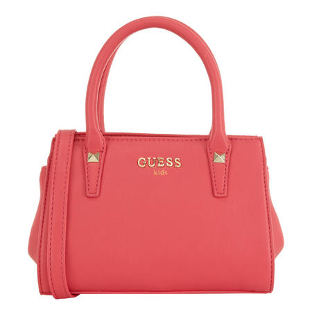 Girls Grab Studded Bag Pink