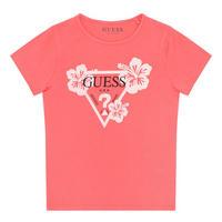 Girls Triangle Logo Print T-Shirt