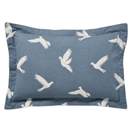 Paper Doves Oxford Pillowcase Navy