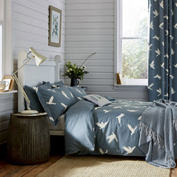 Paper Doves Duvet Cover Navy