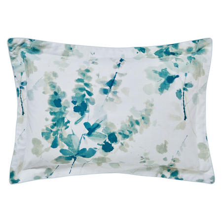 Delphiniums Oxford Pillowcase Green
