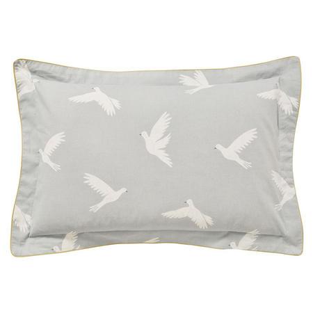 Paper Doves Oxford Pillowcase Grey