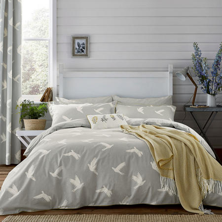 Paper Doves Duvet Cover Grey