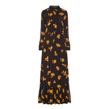 Fairfax Floral Print Shirt Dress Black