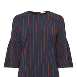 Clark Bell Sleeve Top Navy