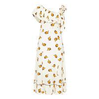 Roseburg Floral Long Dress Cream