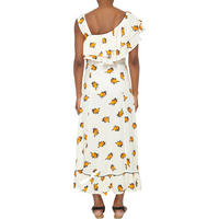 Roseburg Floral Long Dress Cream