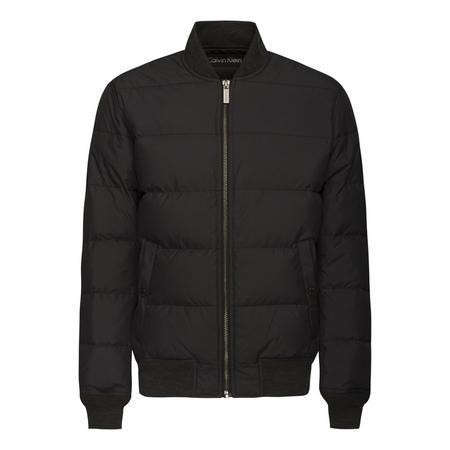 Padded Bomber Jacket Black