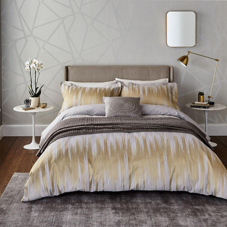 Motion Duvet Cover Gold-Tone