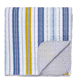 Melody Quilted Throw Blue