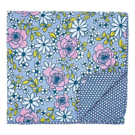 Pixie Quilted Throw Blue