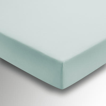 Percale Fitted Sheet Blue