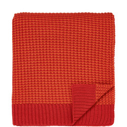 Fay & Melody Knitted Throw Orange