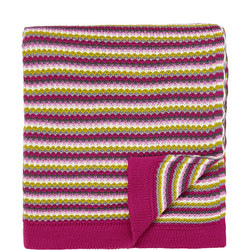 Dot & Penny Knitted Throw Pink