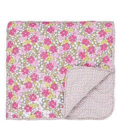 Penny Quilted Throw Pink