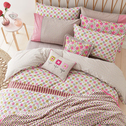 Dot Duvet Set Pink