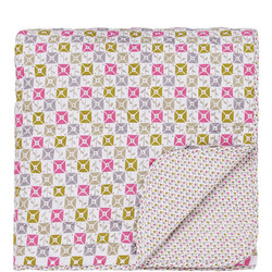 Dot Quilted Throwover Pink
