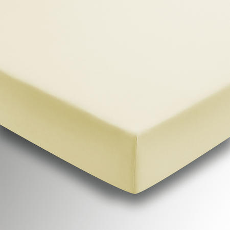 Percale Fitted Sheet Yellow