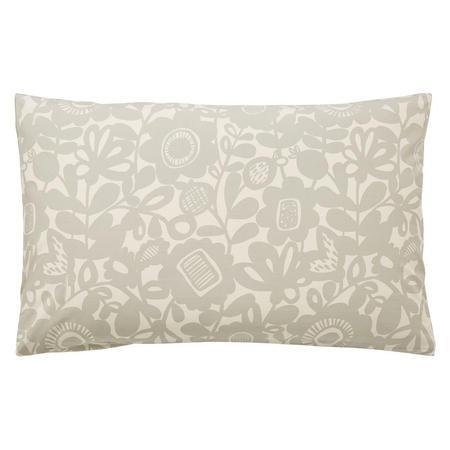 Kukkia Standard Pillowcase Grey