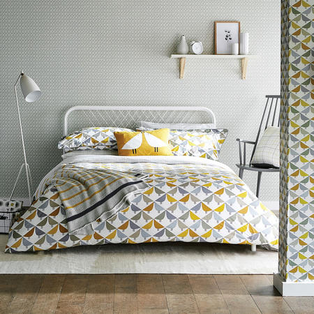 Lintu Duvet Cover Yellow