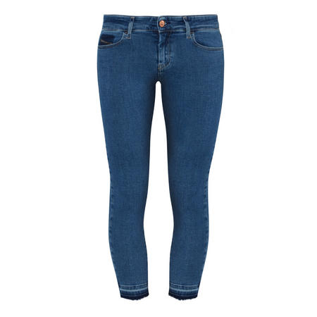 Slandy 0699I Super Skinny Cropped Jeans Blue