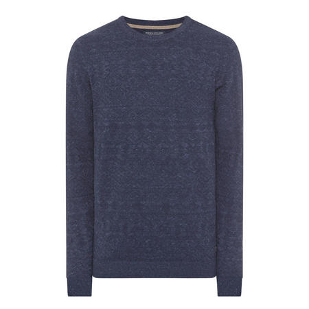 Textured Pattern Sweater Navy
