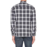Lawrence Slim Fit Check Shirt Navy