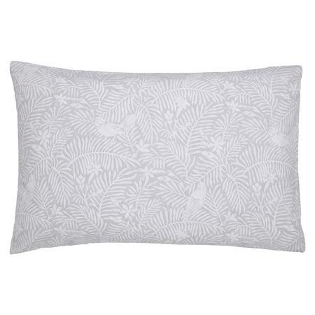 Dawn Chorus Standard Pillowcase Pair Silver-Tone