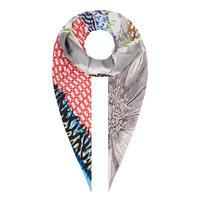 Picnic Perfect Daisy Chain Silk Scarf Multicolour