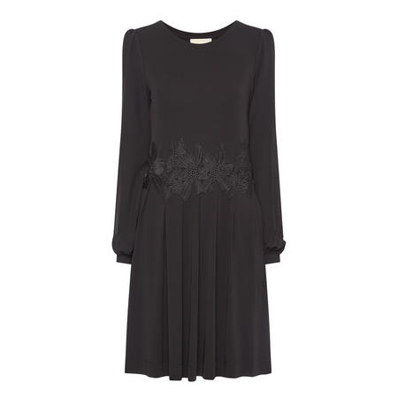 Lace Combo Dress Black