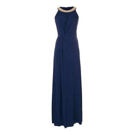 Beaded Neckline Maxi Dress