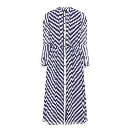 Bias Stripe Dress Navy
