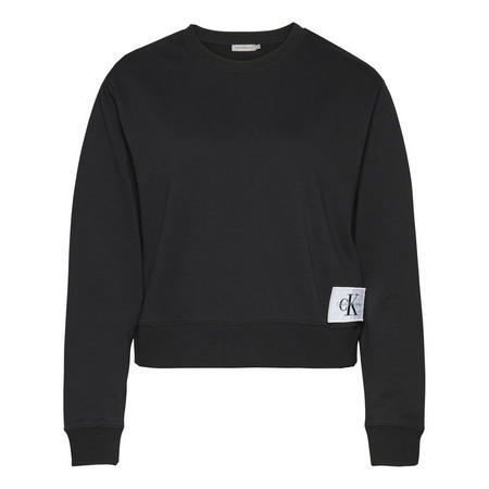 Cropped Sweat Top Black